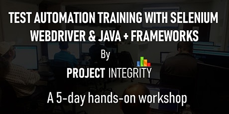 Test Automation Training with Selenium WebDriver and Java, Plus Frameworks tickets