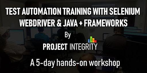 Test Automation Training with Selenium WebDriver and Java, Plus Frameworks