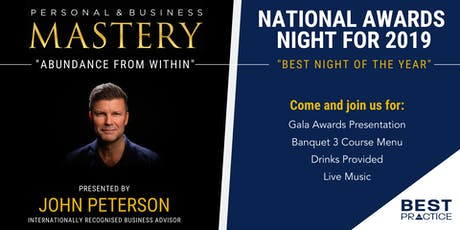 Personal & Business Mastery / Best Practice Awards Night tickets