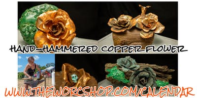 Hand-hammered Copper Flower with Colette Dumont 2.16.20