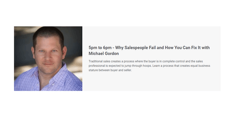 Why Salespeople Fail and How You Can Fix It with Michael Gordon tickets