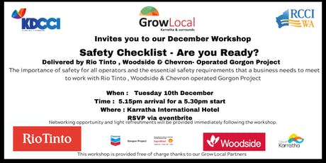 Grow Local Program - Safety Checklist - Are you Ready?  tickets
