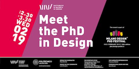 Meet the PhD in Design biglietti