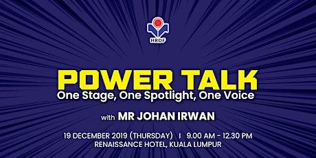 HRDF Power Talk 2019 tickets