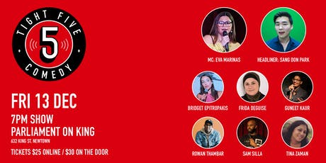 Tight 5 Comedy with Eva Marinas & Sang Don Park 7pm Show tickets