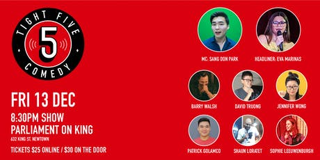 Tight 5 Comedy with Eva Marinas & Sang Don Park 8:30pm Show tickets