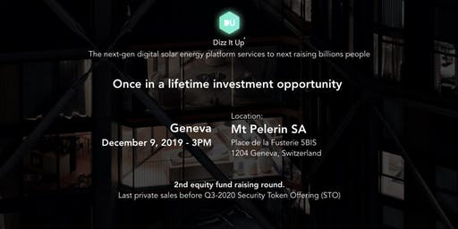 DizzitUp Investors roadshow - Geneva
