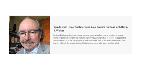 How To Determine Your Brand's Purpose with Kevin J. Walker tickets