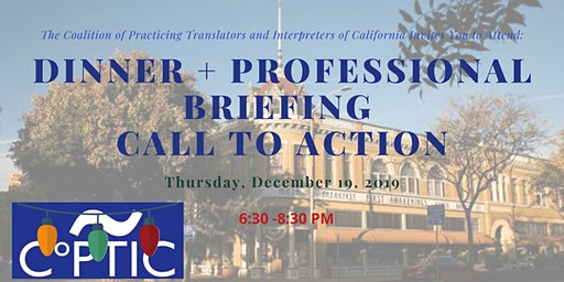 Salinas (Central Coast) Dinner + Briefing + Call to Action