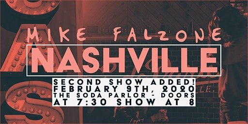 SECOND SHOW ADDED! Mike Falzone live at the Soda Parlor in Nashville