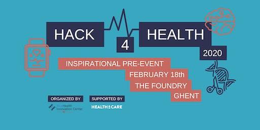 Hack4Health Inspirational pre-event Ghent