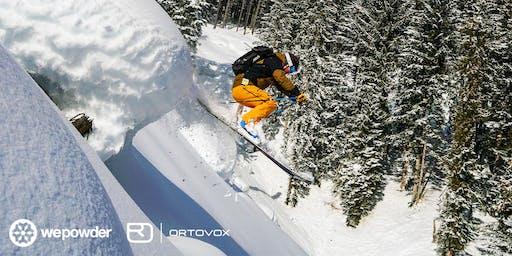 Lezing off-piste skiën door WePowder en Ortovox