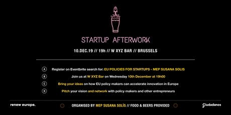 EU policies for Startups - Afterwork by MEP Susana Solís tickets