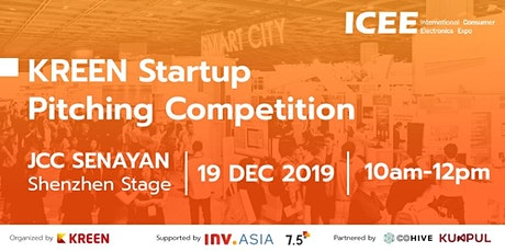 Kreen Startup Pitching Competition at ICEE 2019 tickets