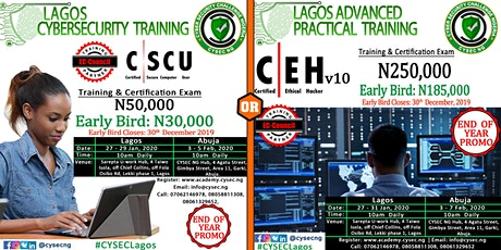 End of Year Promo Certified Ethical Hacker & Secure Computer User Training tickets