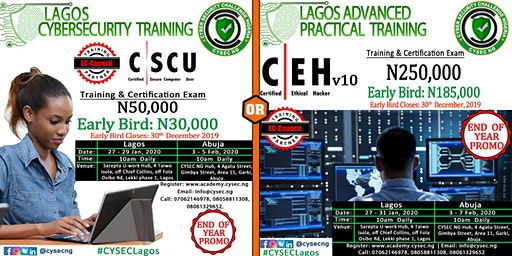 End of Year Promo Certified Ethical Hacker & Secure Computer User Training