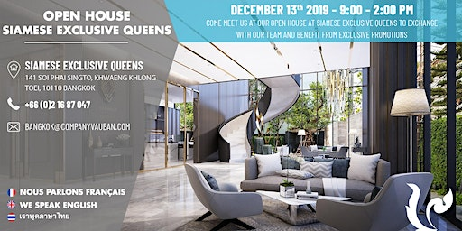 Open House Siamese Exclusive Queens with Vauban Real Estate