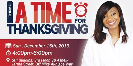 A Time for Thanksgiving tickets