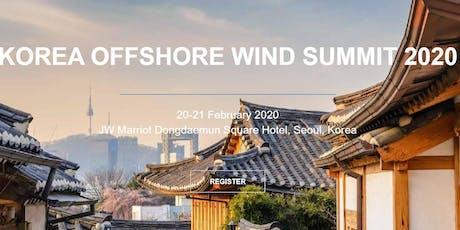 Korea Offshore Wind Summit 2020 tickets