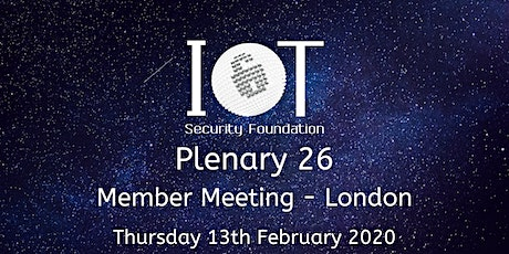 IoTSF Plenary 26 tickets