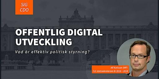 Offentlig digital utveckling  – vad är effektiv politisk styrning?