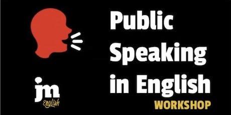 Public Speaking in English - Workshop biglietti