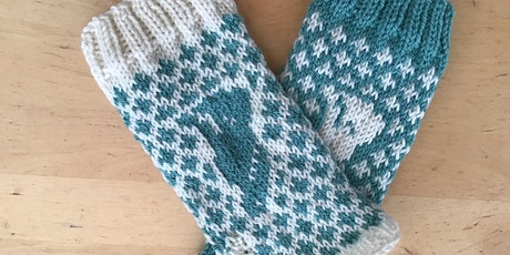Knit your own Fair isle hand warmers. tickets