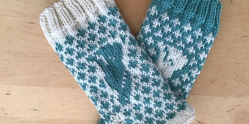 Knit your own Fair isle hand warmers.