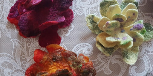 Felt Brooch making in Belmont with The  Design House