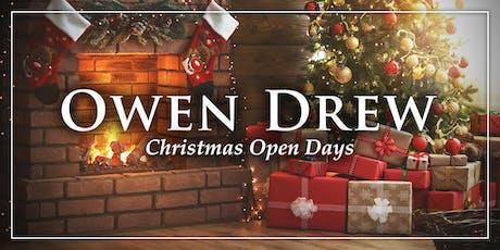 Owen Drew Christmas Open Day tickets