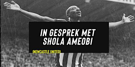 In gesprek met Shola Ameobi. Ex-Prof-voetballer New Castle United tickets