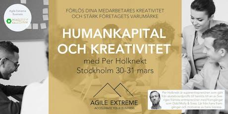 Humankapital och Kreativitet - Förlös dina medarbetares kreativitet och stärk företagets varumärke tickets