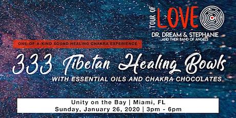 333 Tibetan Healing Bowls,Essential Oil & Chocolate Experience, Sound Healing, Miami, FL tickets