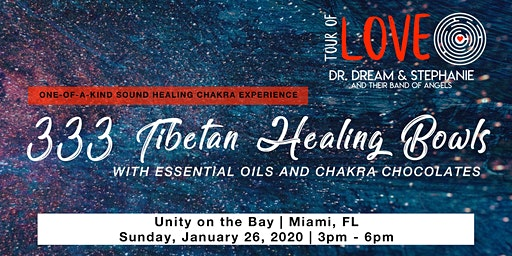 333 Tibetan Healing Bowls,Essential Oil & Chocolate Experience, Sound Healing, Miami, FL