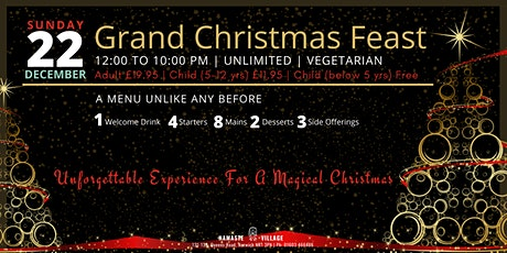 Grand Christmas Feast | Unlimited | Vegetarian | Norwich tickets