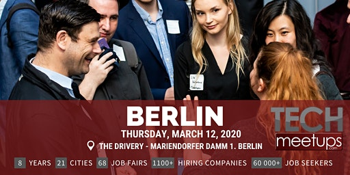 Berlin Tech Job Fair Spring 2020 By Techmeetups