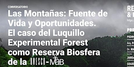Conversatorio Las Montañas: Fuente de Vida y Oportunidades entradas