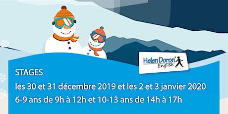 Stages anglais pour les enfants de 6 à 13 ans du 30 décembre au 3 Janvier billets