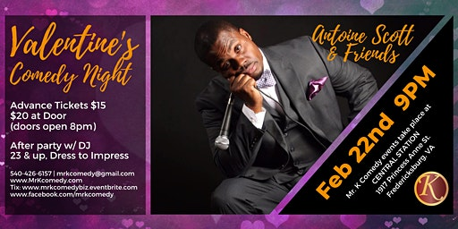 Mr. K Comedy Night & After Party: Valentine's Edition
