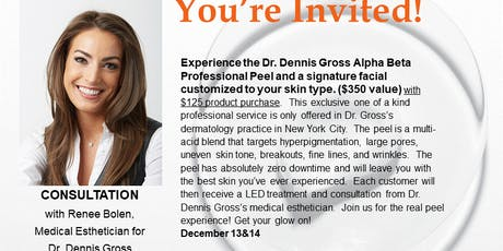 Come Expereince The Dr. Dennis Gross Real Peel tickets