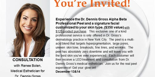 Come Expereince The Dr. Dennis Gross Real Peel