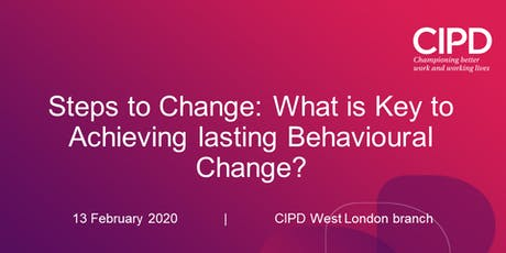 Steps to Change: What is Key to Achieving lasting Behavioural Change? tickets