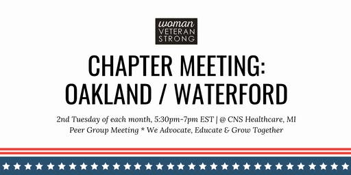 Woman Veteran Strong: Chapter Meeting (Oakland/Waterford)