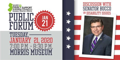 Dialogue with Senator Bucco on disability issues tickets