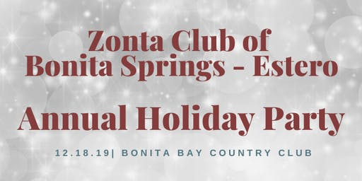 Zonta Bonita Springs - Estero Holiday Party