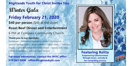 Highlands Youth For Christ 2020 Winter Gala tickets