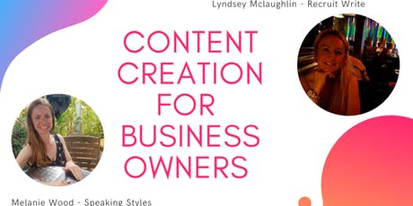 Content Creation For Business Owners tickets