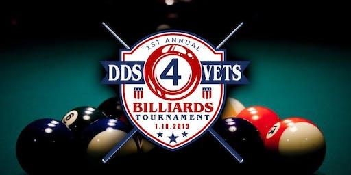 Second Annual DDS4VETS Billiards Tournament