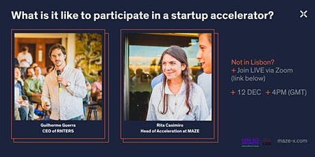 What is it like to participate in a startup accelerator? Meet Maze X tickets