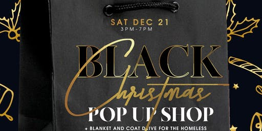 Black Christmas Pop up Shop
